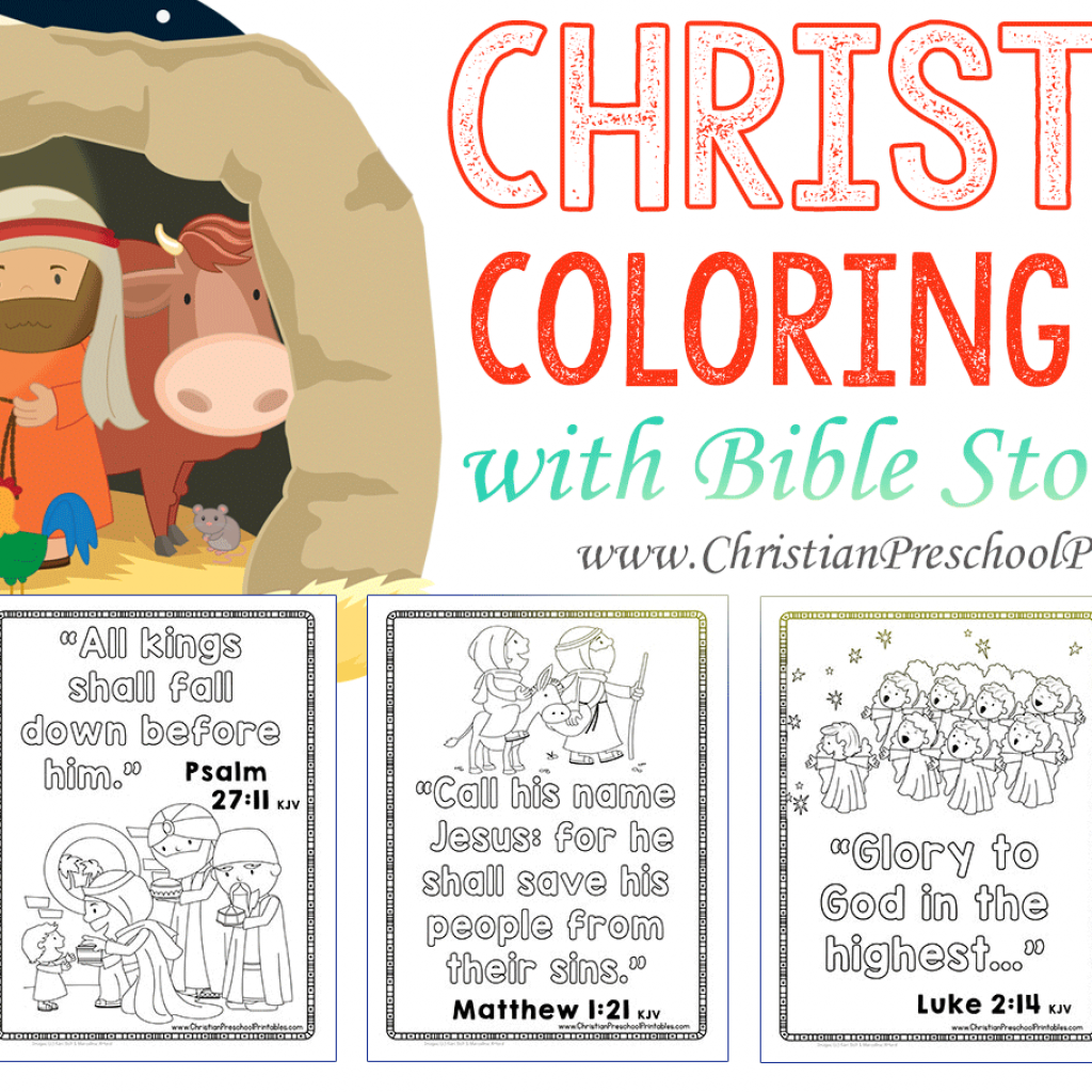 Jesus Christ Christmas Coloring Pages With Bible The Crafty Classroom