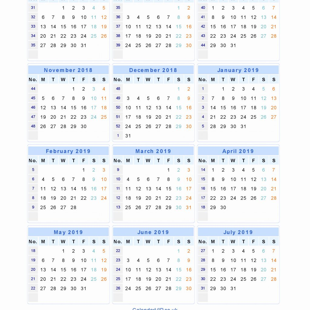 Jewish Calendar Year 2019 With 2018 18 Uk