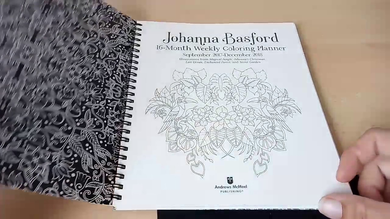 Johanna Basford 2019 Coloring Calendar With 16 Month Weekly Planner YouTube