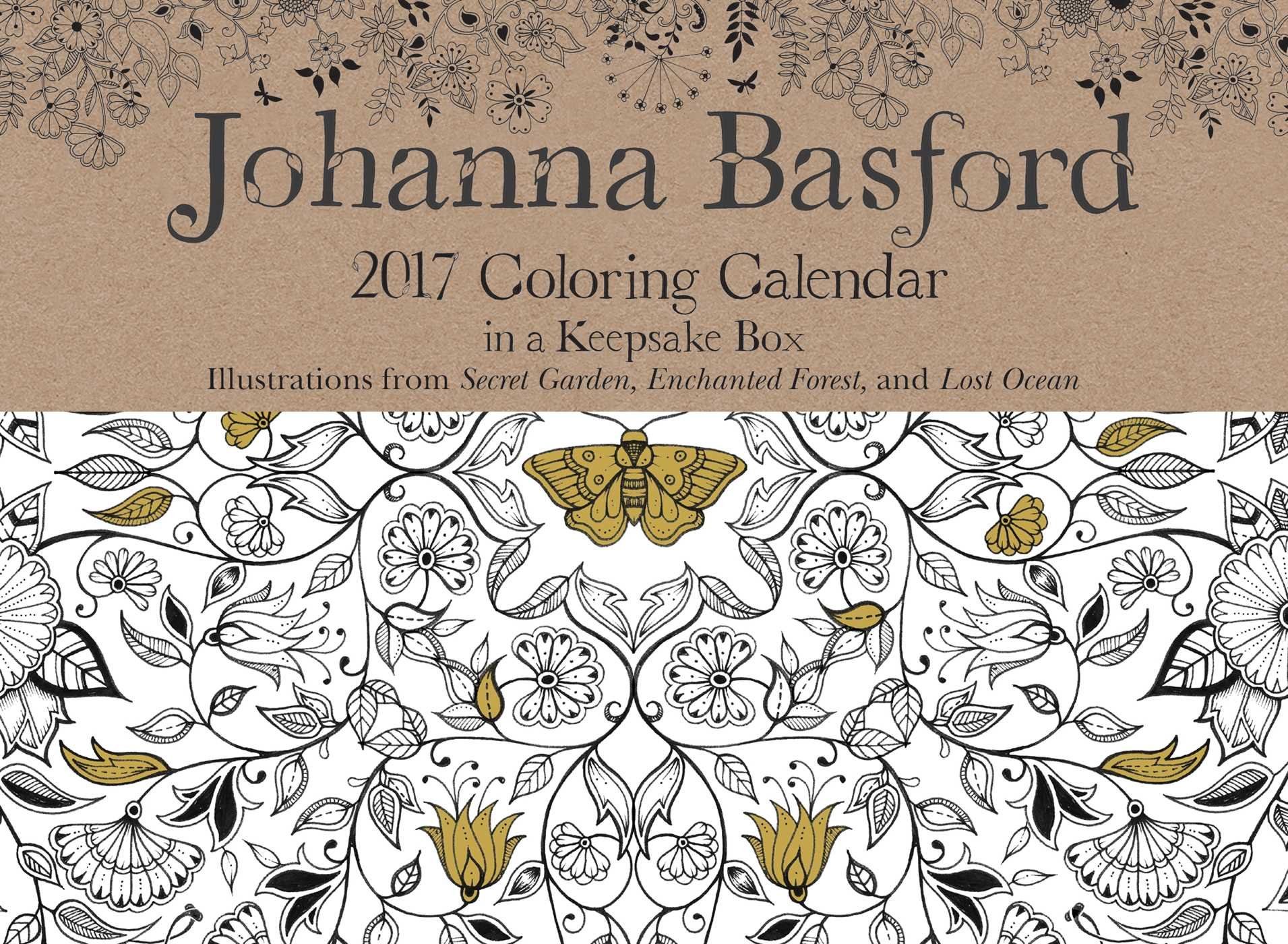 Johanna Basford 2019 Coloring Calendar With 2017 Day To