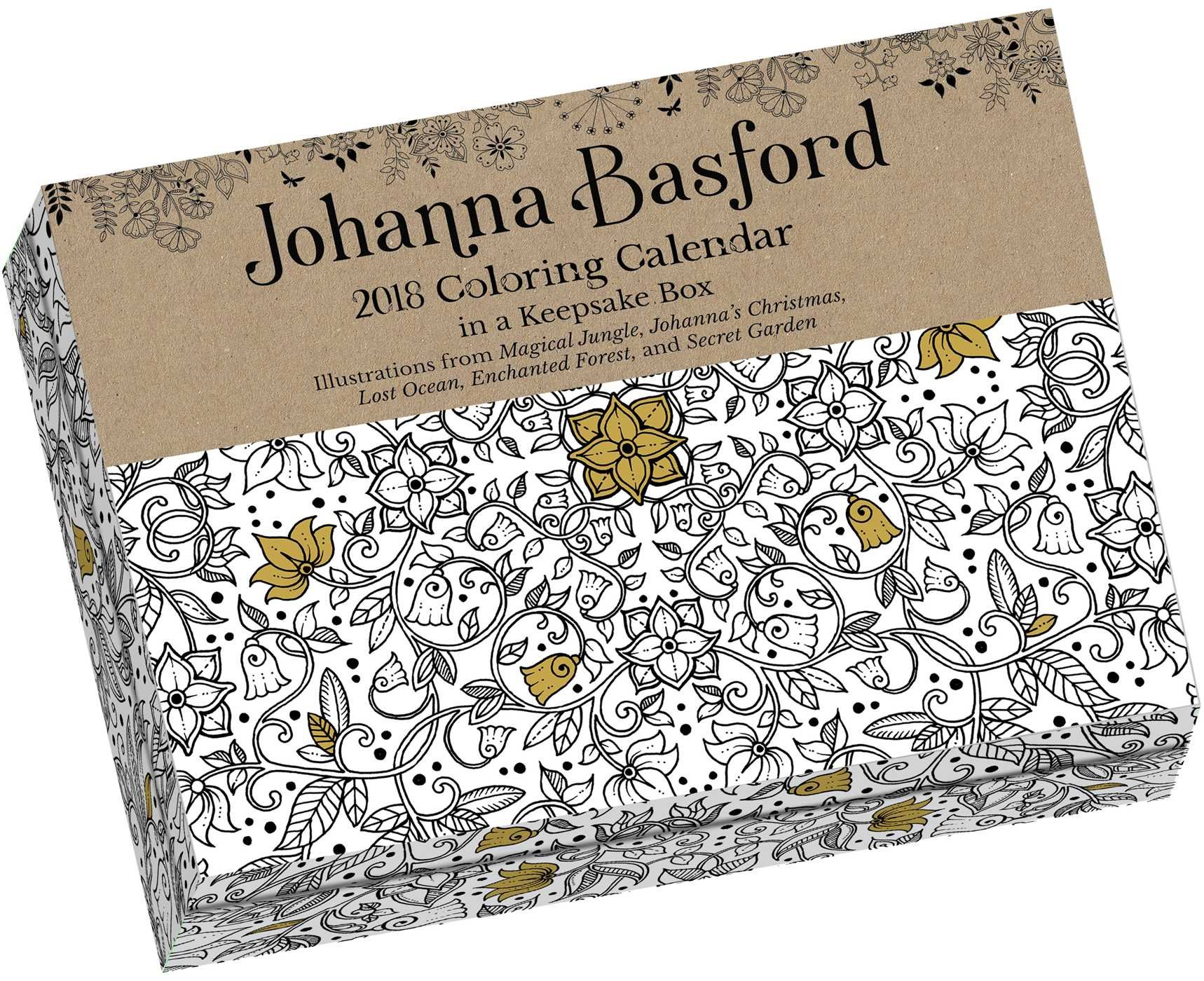 Johanna Basford 2019 Coloring Calendar With 2018 Day To