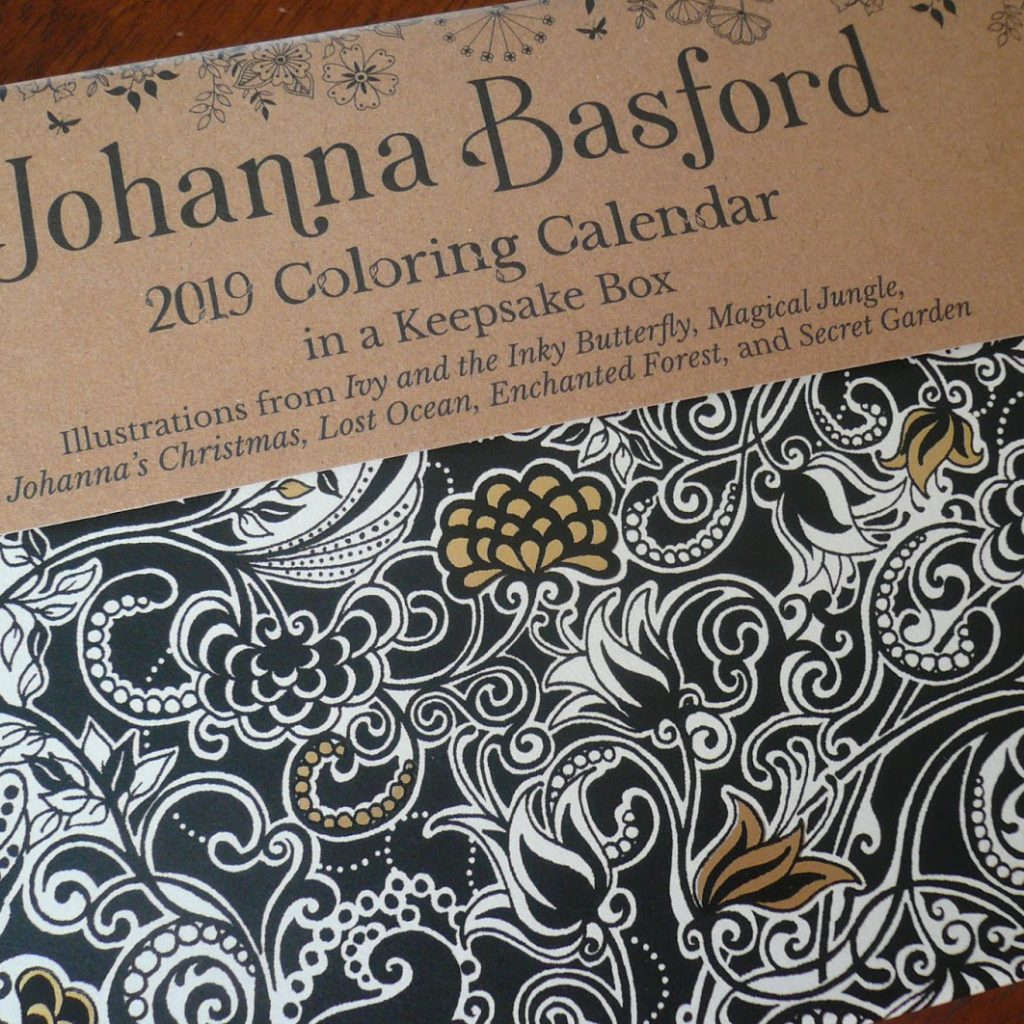 Johanna Basford 2019 Coloring Calendar With Handmade By Deb Day To