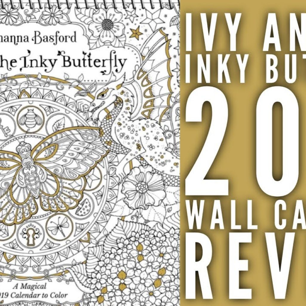 Johanna Basford 2019 Coloring Calendar With Ivy And The Inky Butterfly Wall Review YouTube