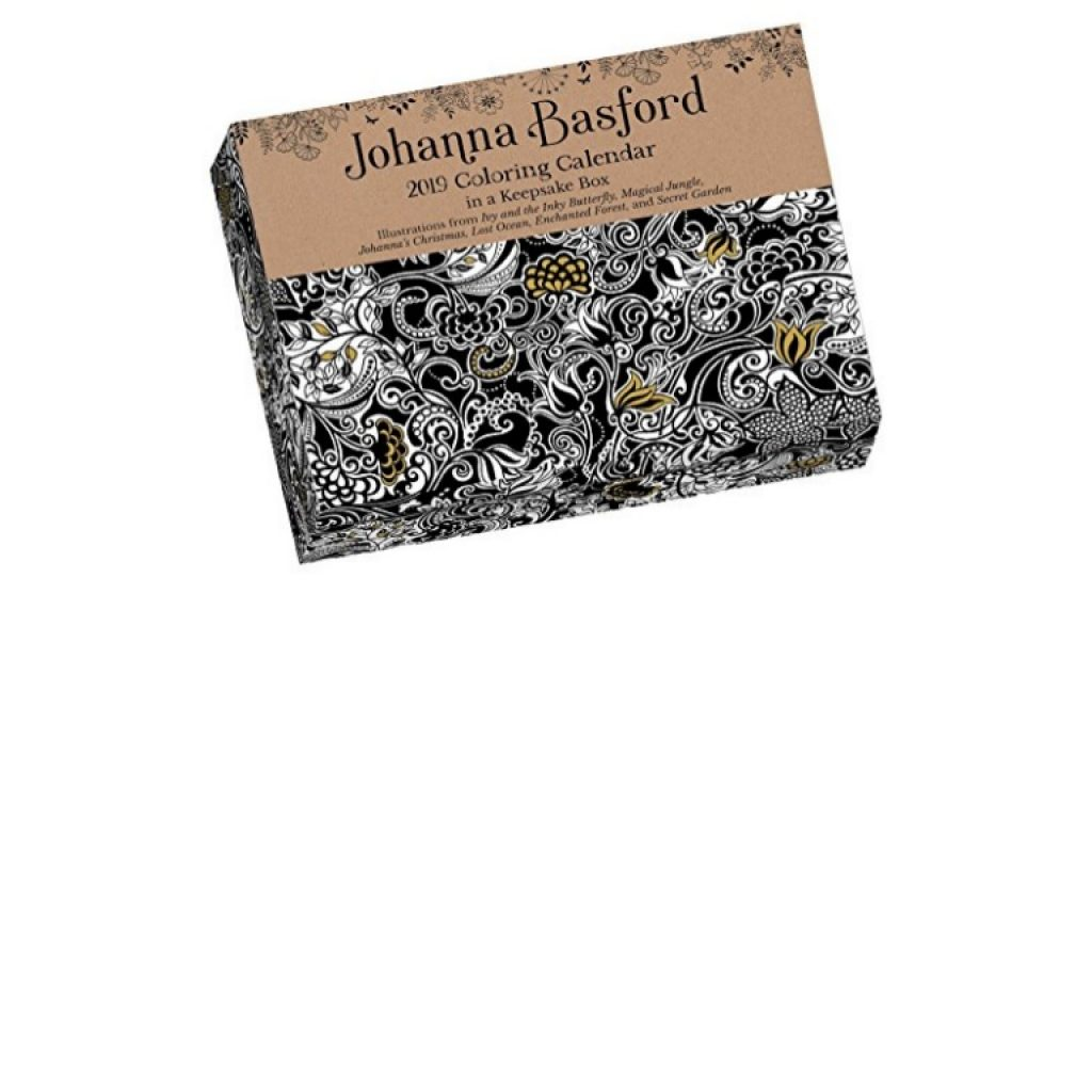 Johanna Basford 2019 Coloring Calendar With PDF Ebook Full Series Day To Calend