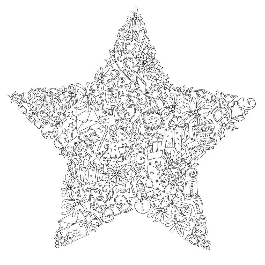 Johanna Basford Christmas Coloring Pages With Colouring