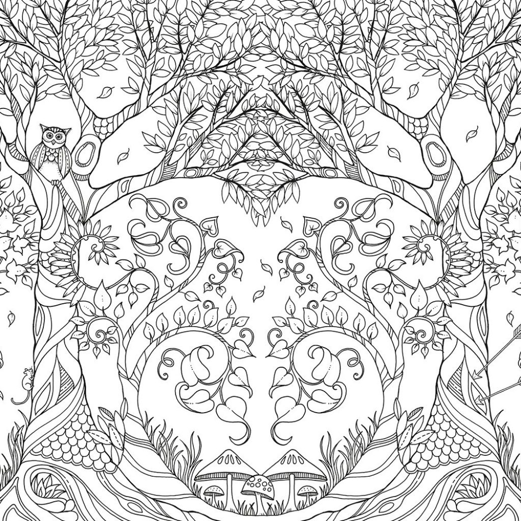 Johanna Basford Christmas Coloring Pages With Free Fall Halloween Winter And Adult Book