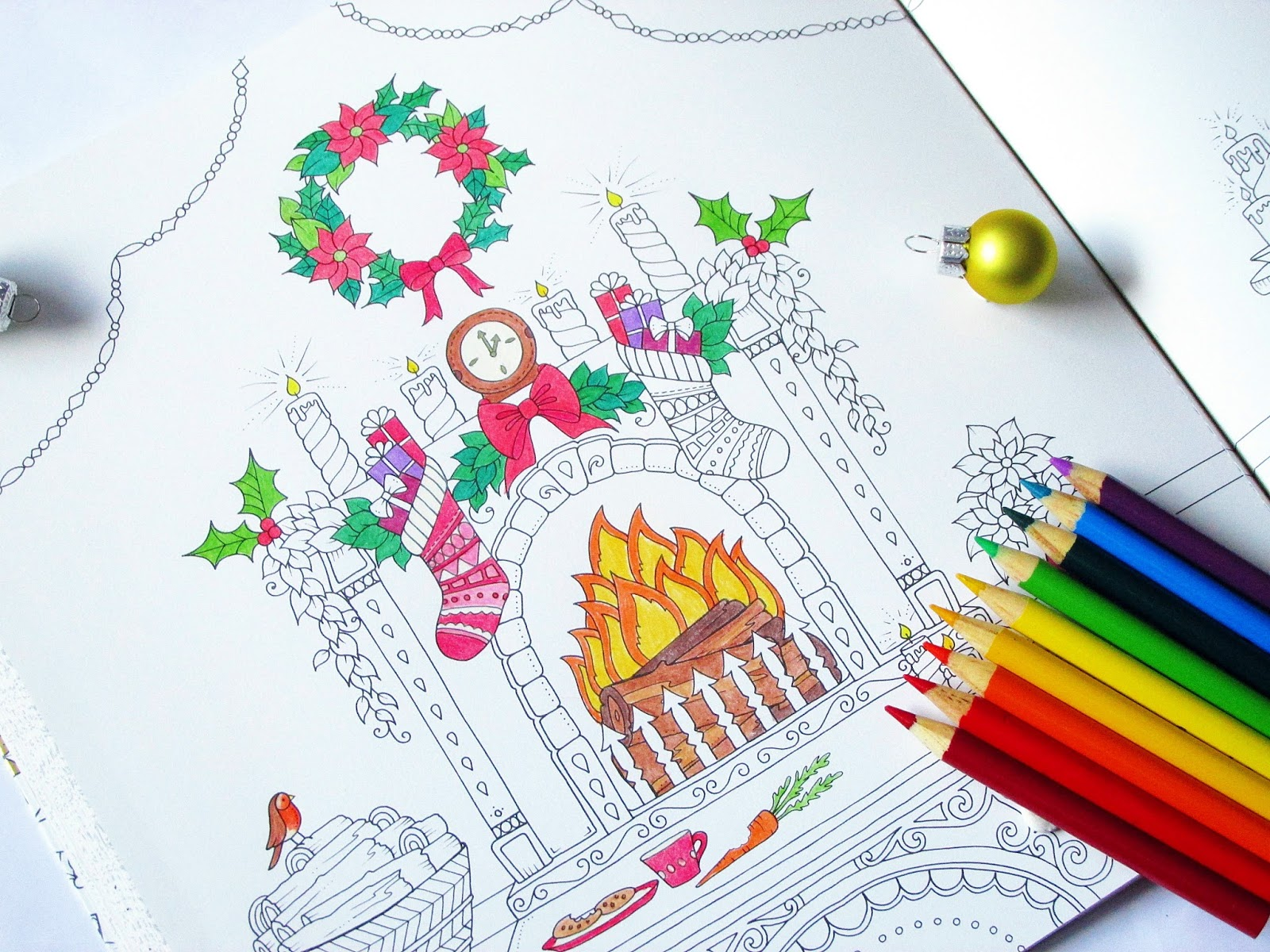 Johanna S Christmas Coloring Book With Basford Adult Colouring Review