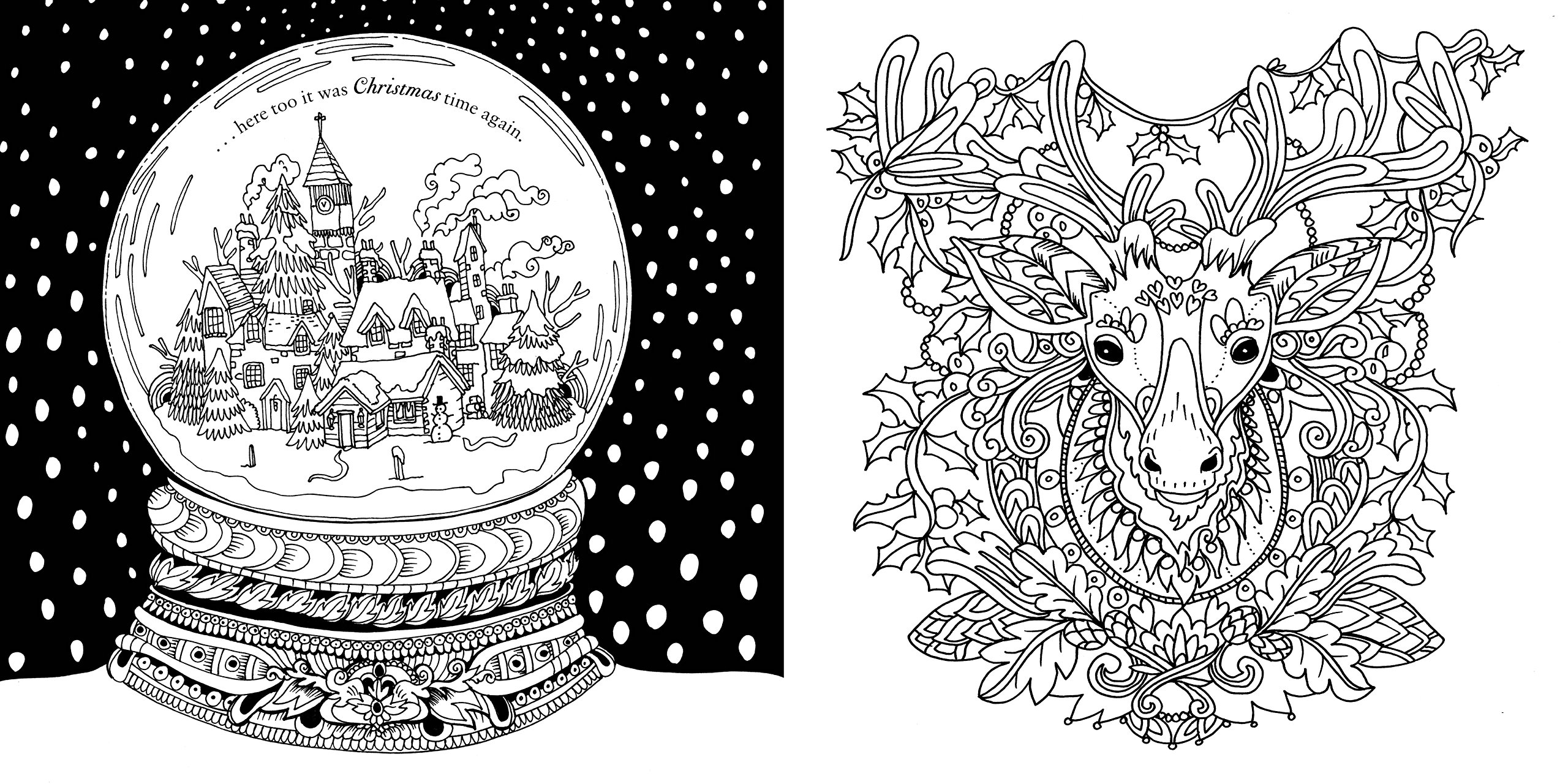 Johanna S Christmas Coloring Pages With Escape To Past A Colouring Book Adventure Good Wives And
