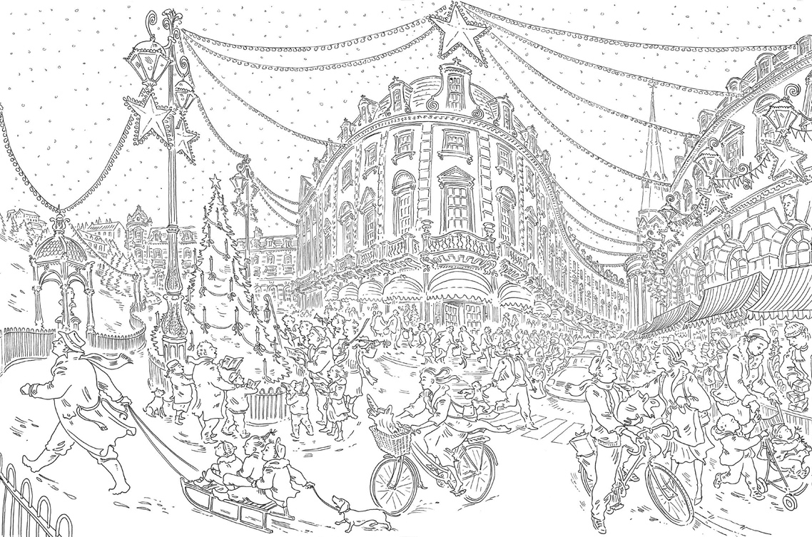 Johanna S Christmas Coloring Pages With Paul Cox Colouring Book Free Pattern Download WHSmith Blog