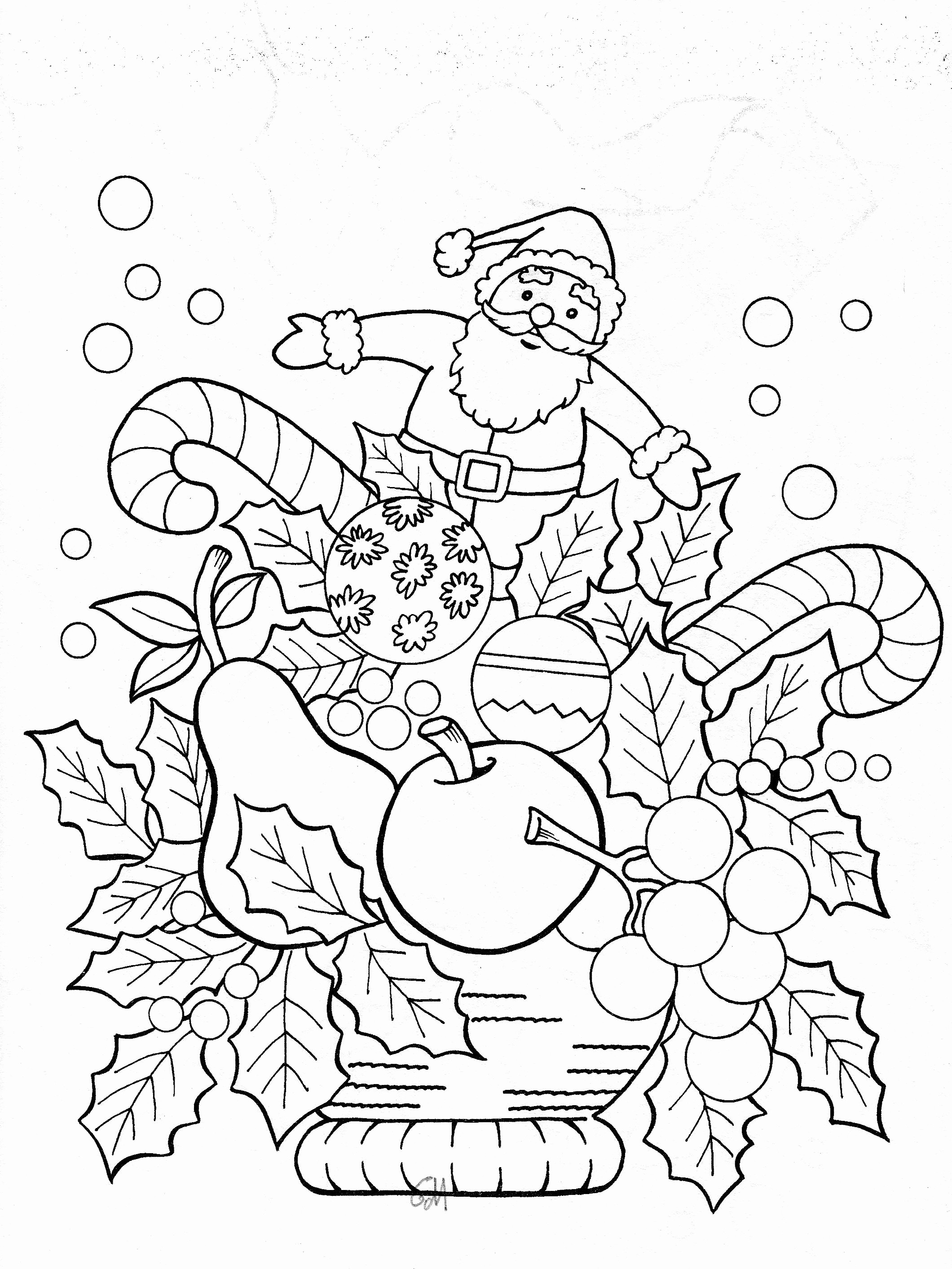 Jumbo Christmas Coloring Pages With Books Inspirationa
