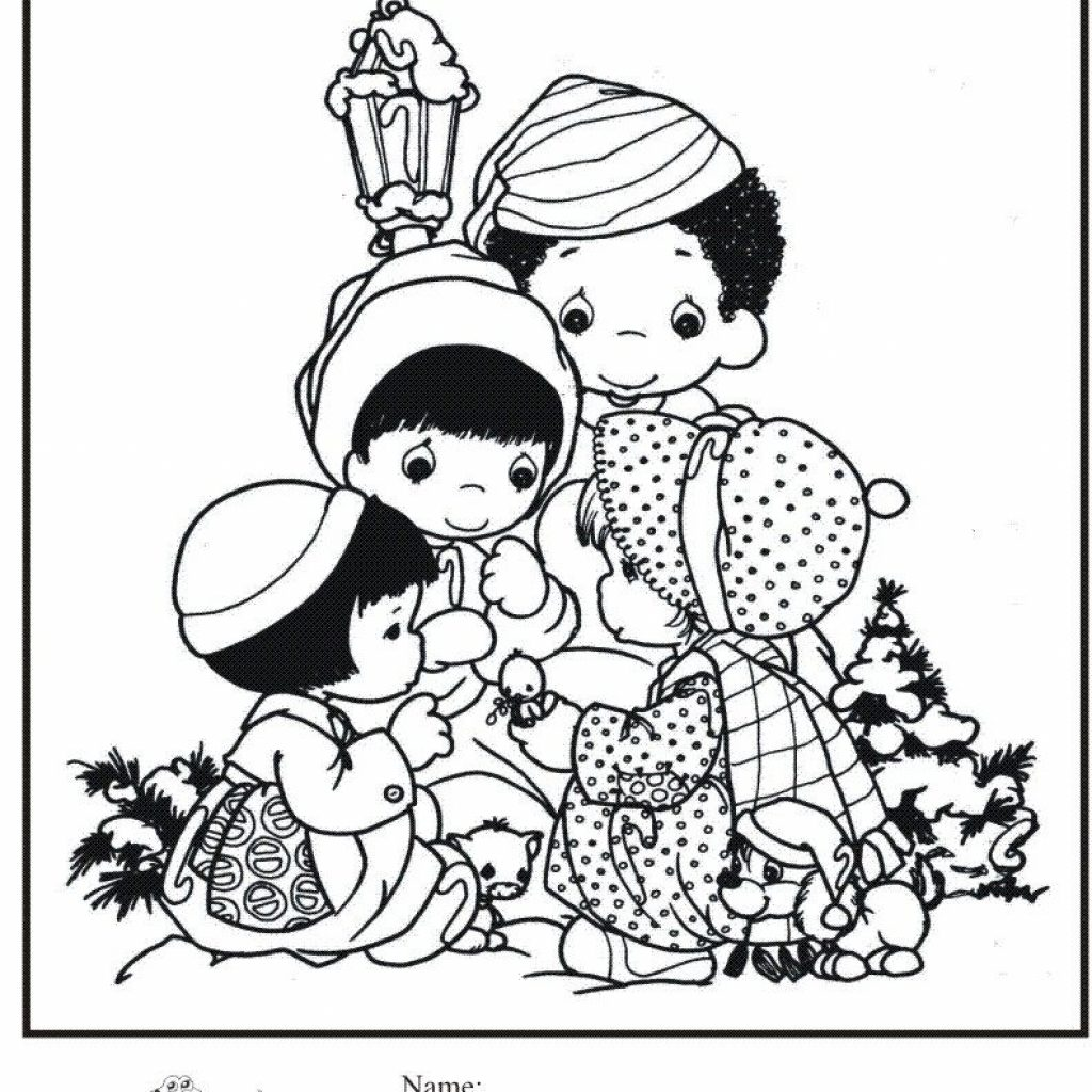 Jumbo Christmas Coloring Pages With Kids Page Precious Moments Candy Canes