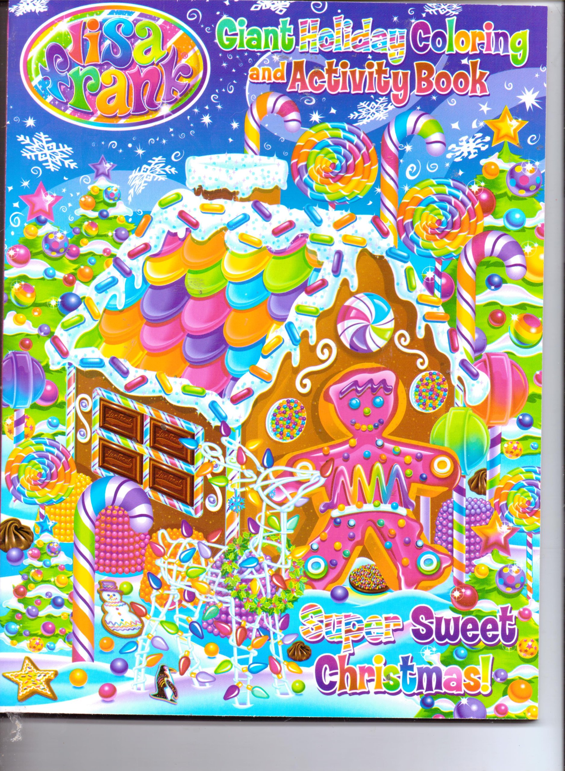Jumbo Christmas Coloring Pages With Lisa Frank Giant Holiday Activity Book Super Sweet