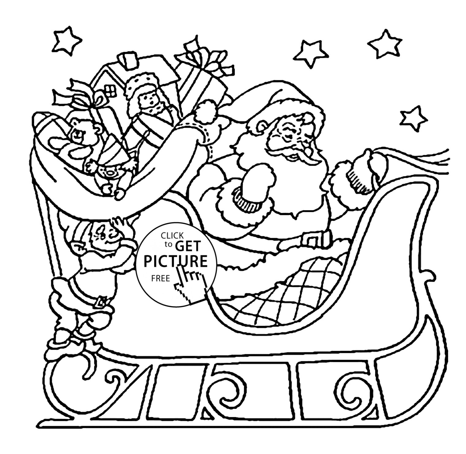 Kids Christmas Santa Claus Coloring Page Sheets With Pages Gallery Free Books