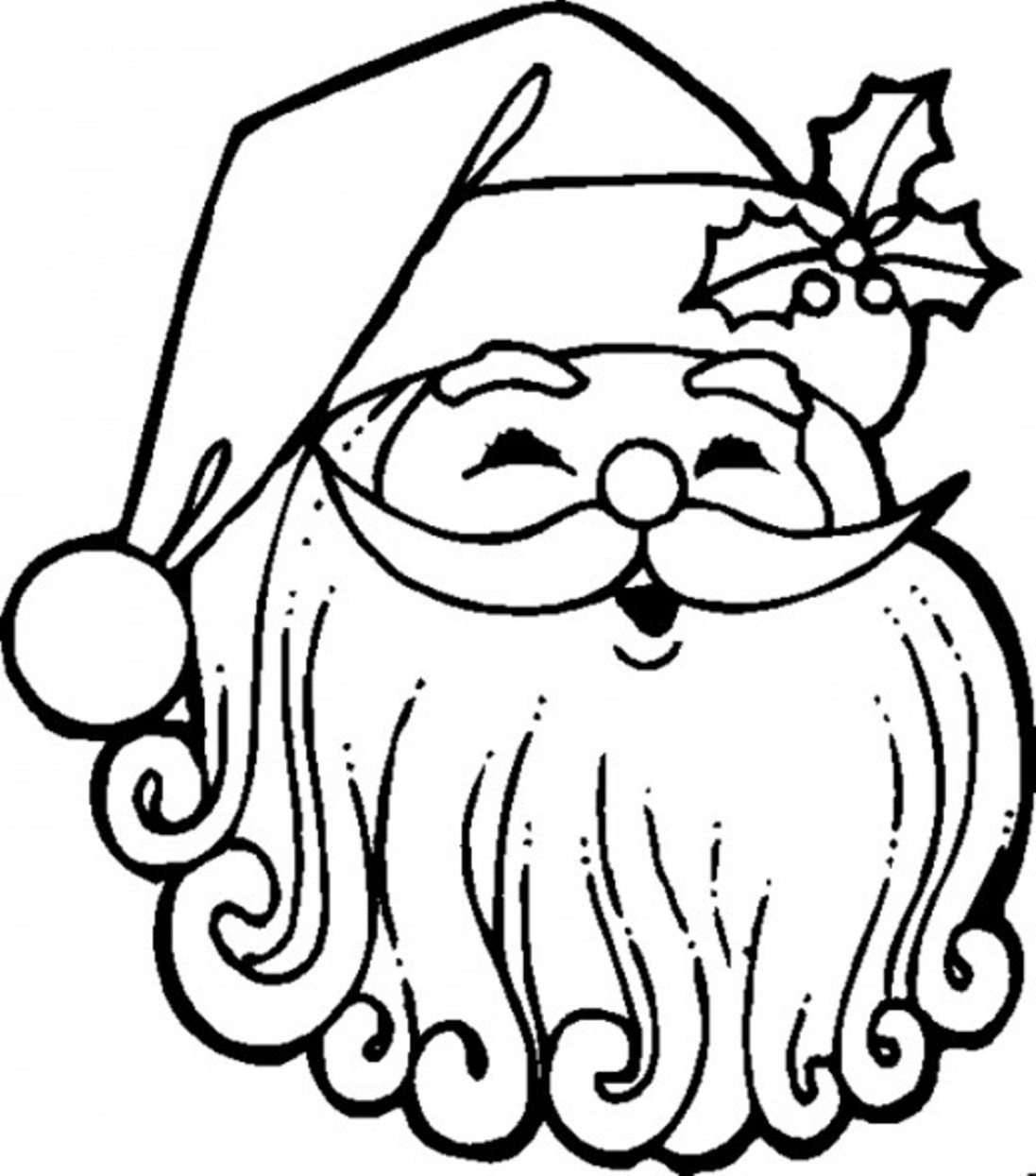 Kids Christmas Santa Claus Coloring Page With Pages Free Download Best
