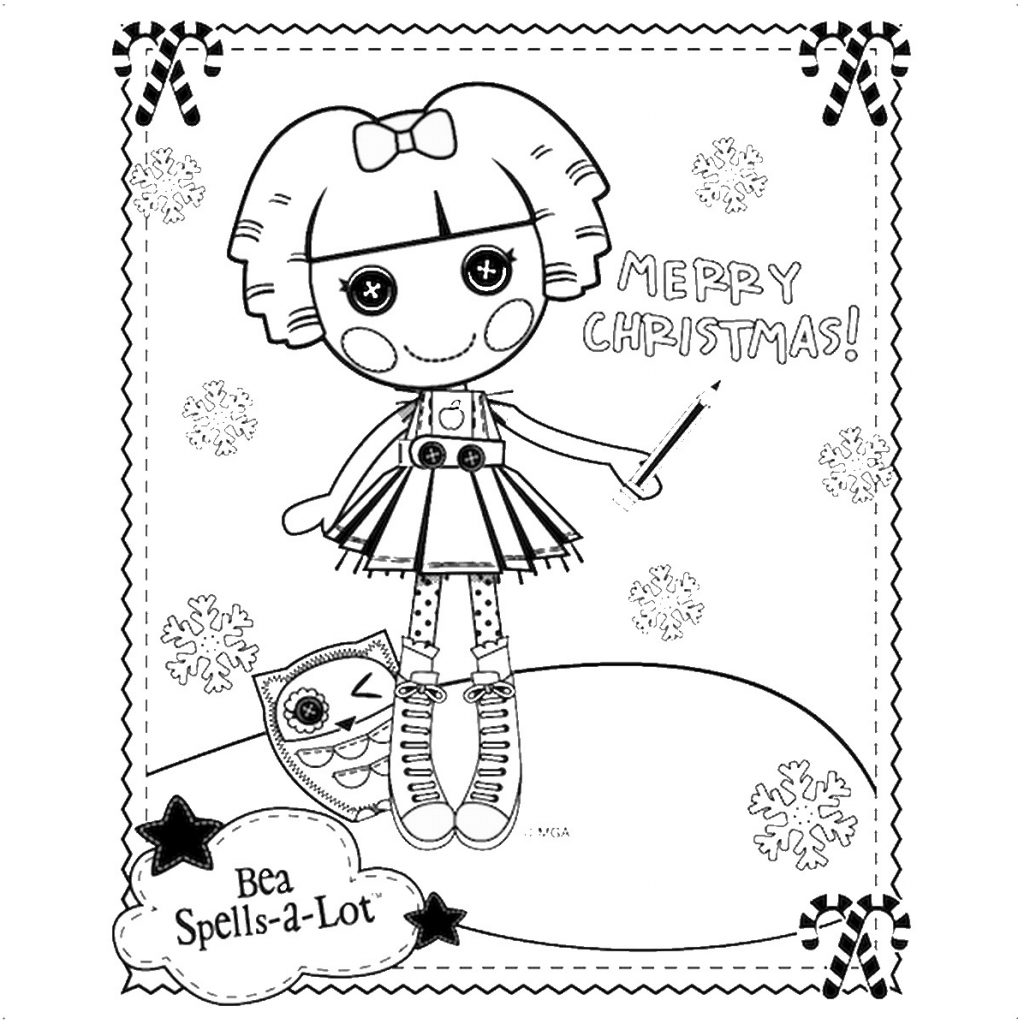 Lalaloopsy Christmas Coloring Pages With Birthday Printable