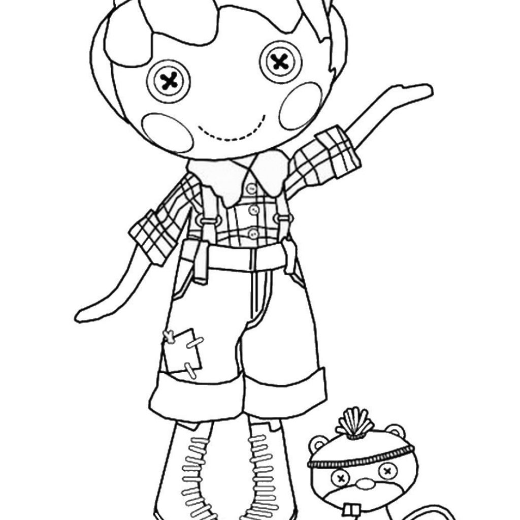Lalaloopsy Christmas Coloring Pages With Boy To Print