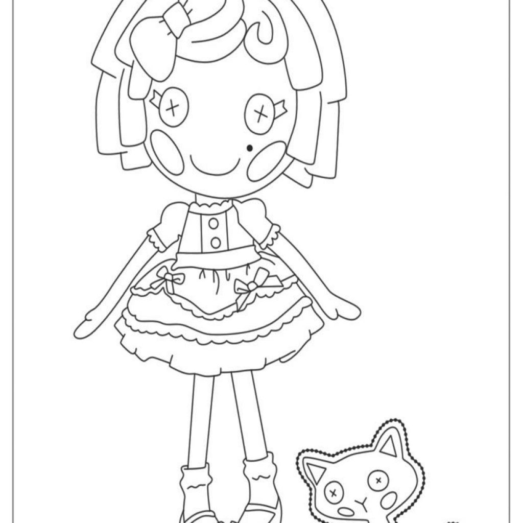 Lalaloopsy Christmas Coloring Pages With Download Page For Your Little Ones