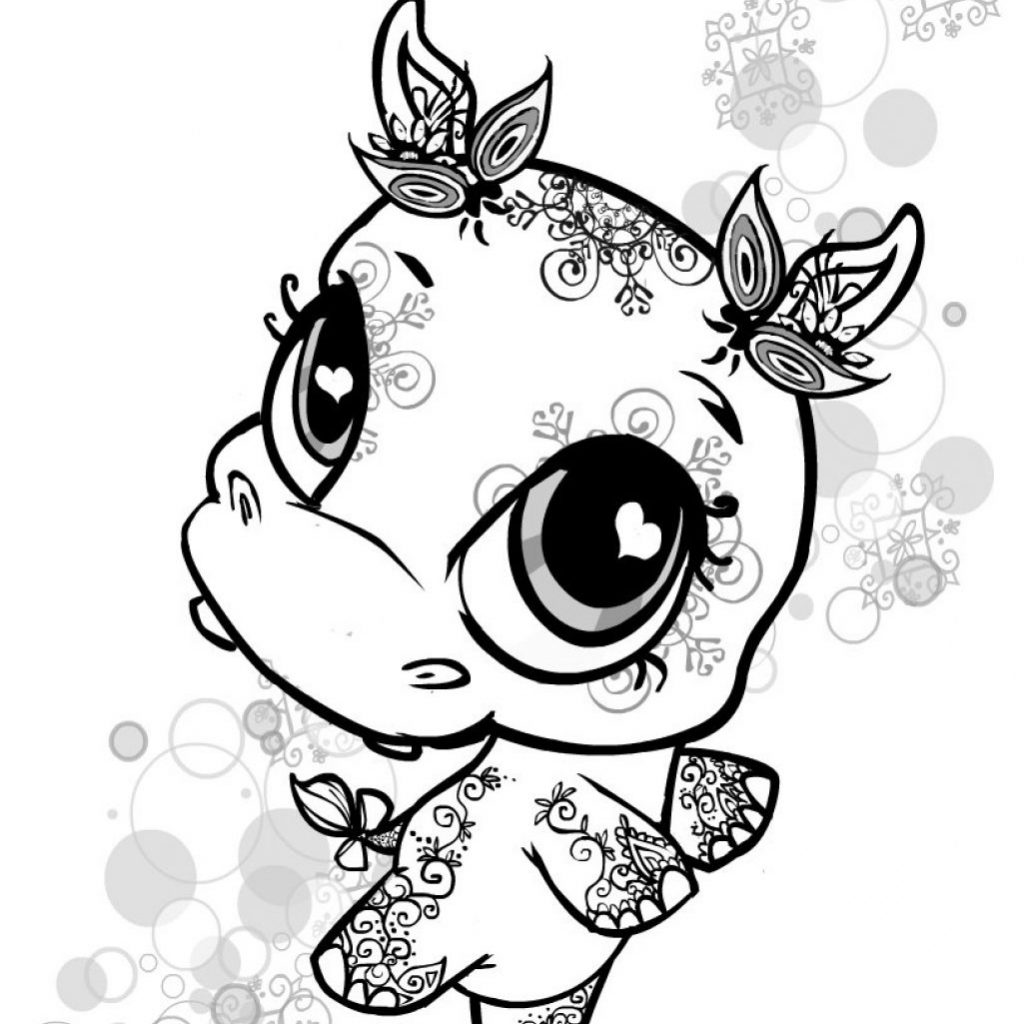 Lalaloopsy Christmas Coloring Pages With Lps Littlest Pet Shop