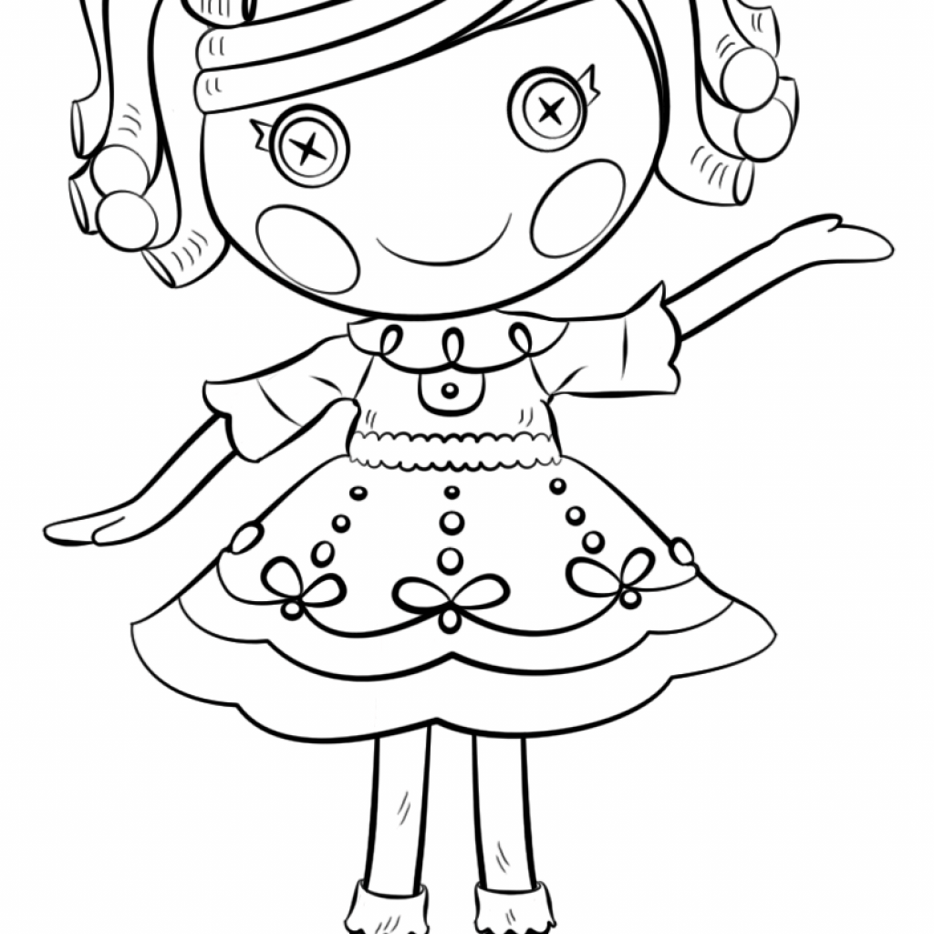 Lalaloopsy Christmas Coloring Pages With Page Free Printable