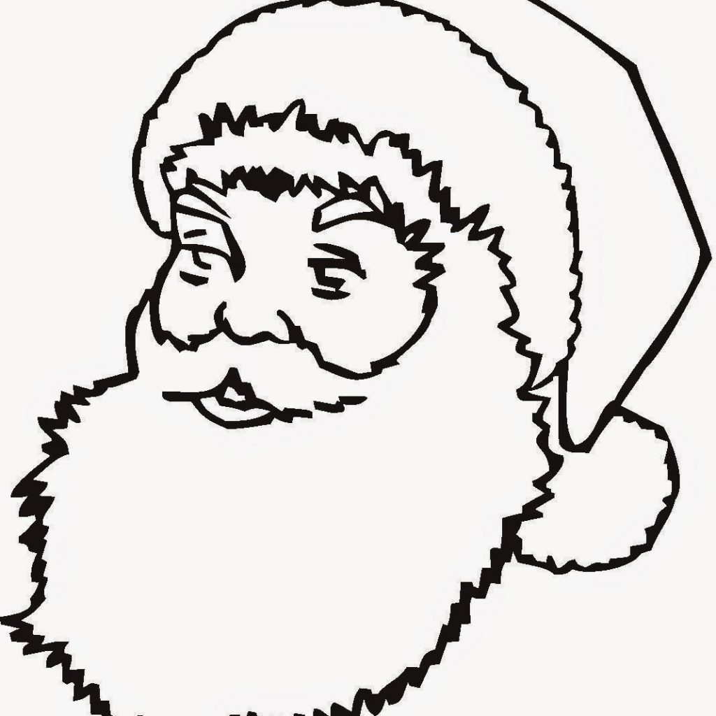 Large Santa Face Coloring Page With Pages Claus Free And Printable