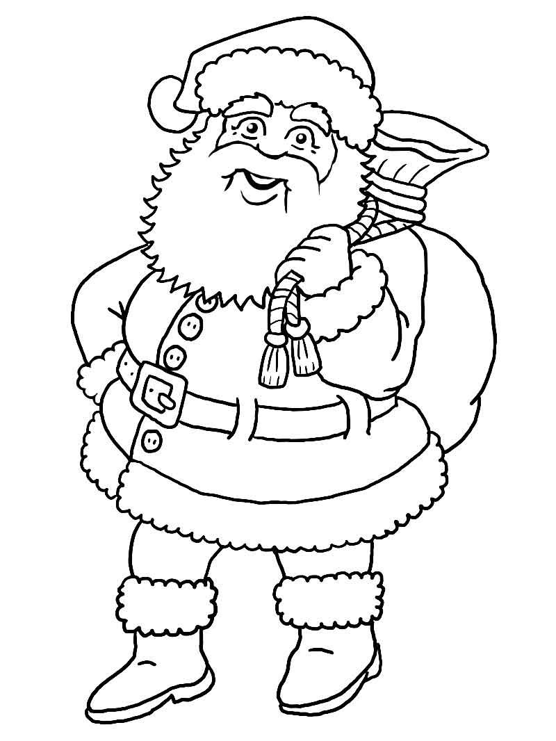 Large Santa Face Coloring Page With Printable Blank Claus Free Images