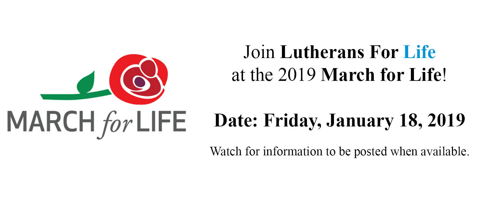 Lcms Church Year Calendar 2019 With Lutherans For Life March