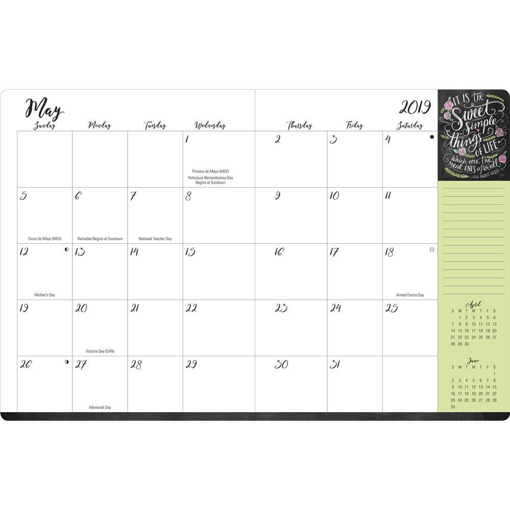 Leap Year Calendar 2019 With 9781608288526 Lily And Val 18 Month Large Planner Engagement