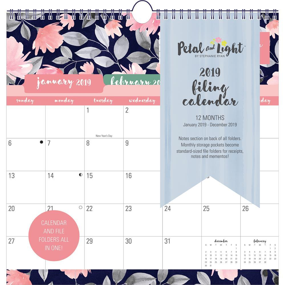 Leap Year Calendar 2019 With 9781608288700 Petal And Light Filing Wall Summit By
