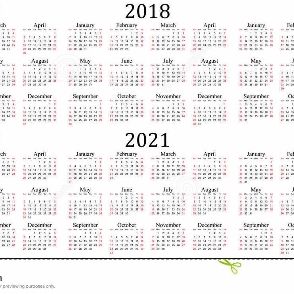 Leap Year Calendar 2019 With Six 2017 2018 2020 2021 And 2022