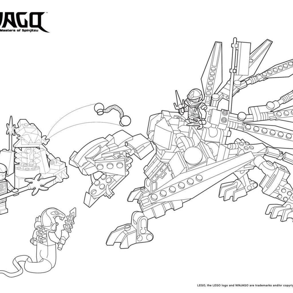 Lego Santa Claus Coloring Pages With Ninjago Pythor