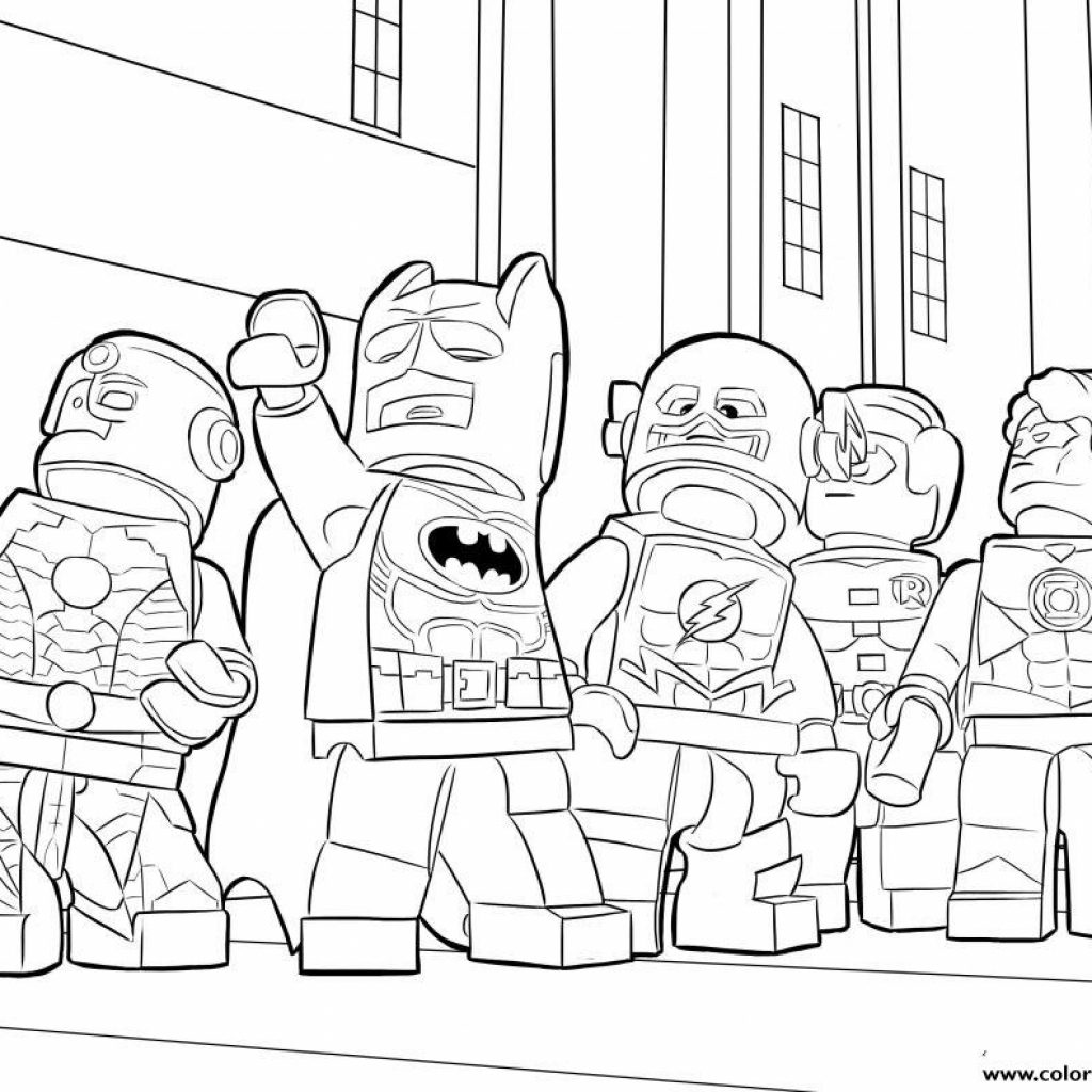 Lego Santa Coloring Pages With Batman Ironman Flash Printable