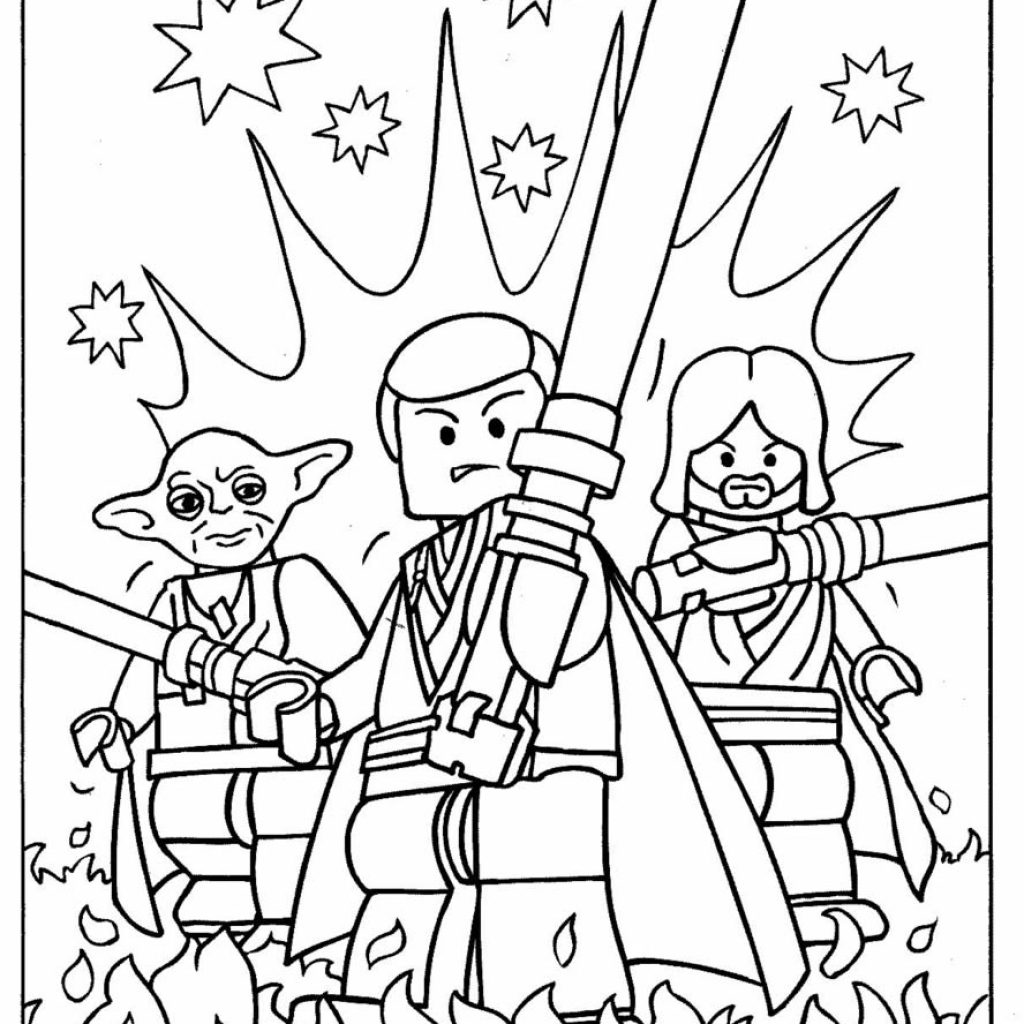 Lego Santa Coloring Pages With For Boys 2018 Z31 Page