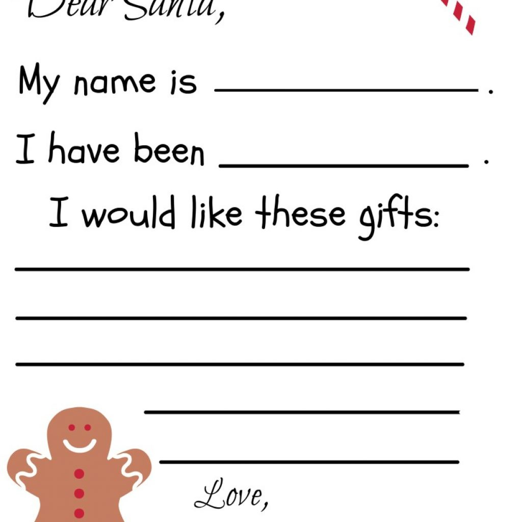 Letter To Santa Template Coloring Page With