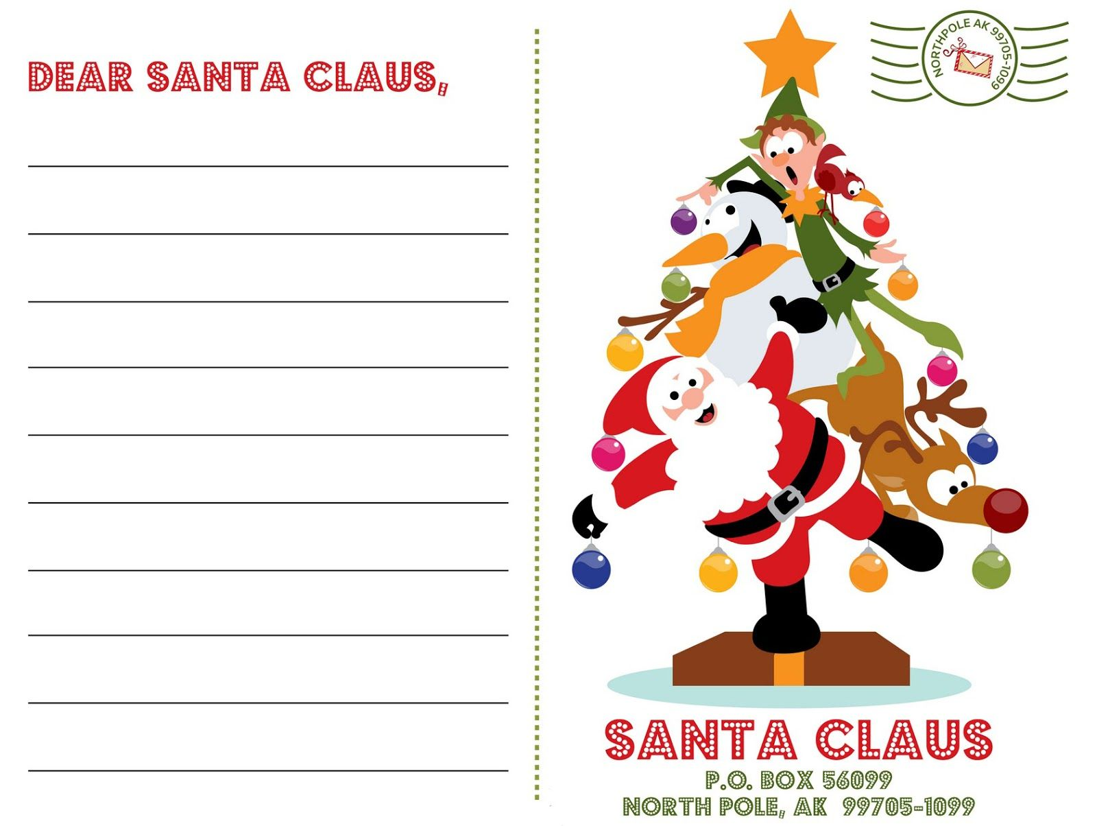 Letter To Santa Template Coloring Page With Hundreds Of Free Printable Xmas Pages And Activity