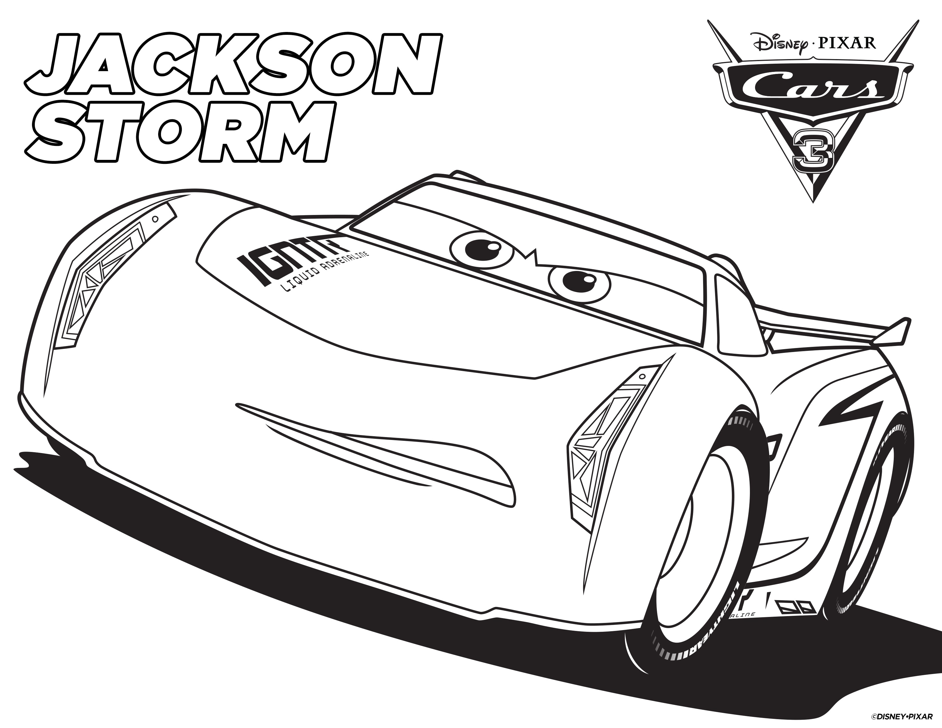 Lightning Mcqueen Christmas Coloring Pages With Cars Three Amazing