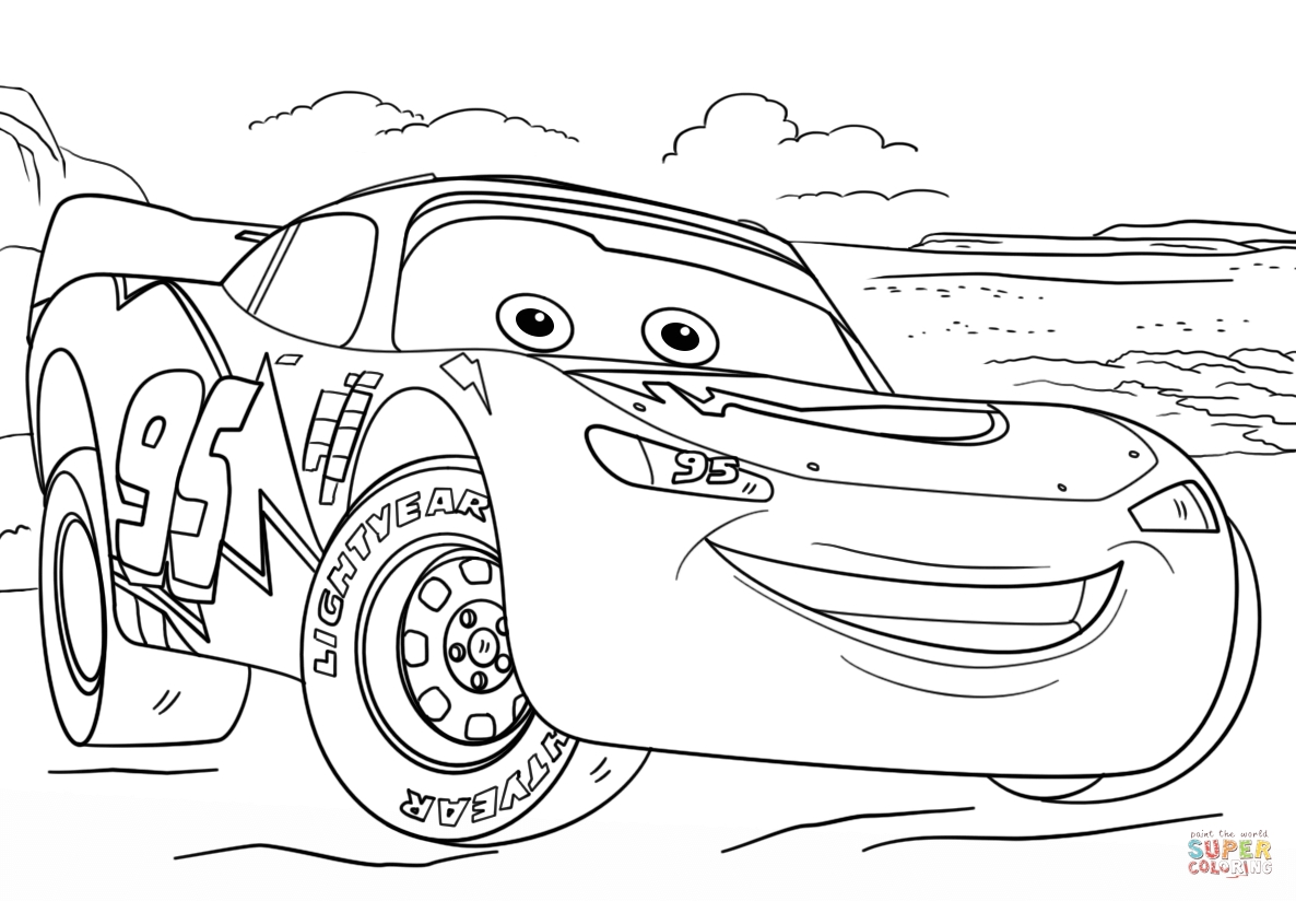 Lightning Mcqueen Christmas Coloring Pages With Free Books