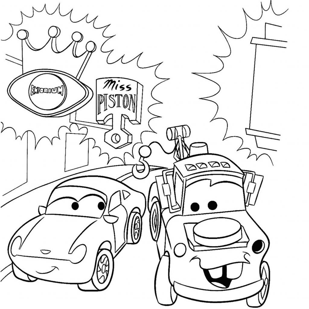 Lightning Mcqueen Christmas Coloring Pages With New Cars