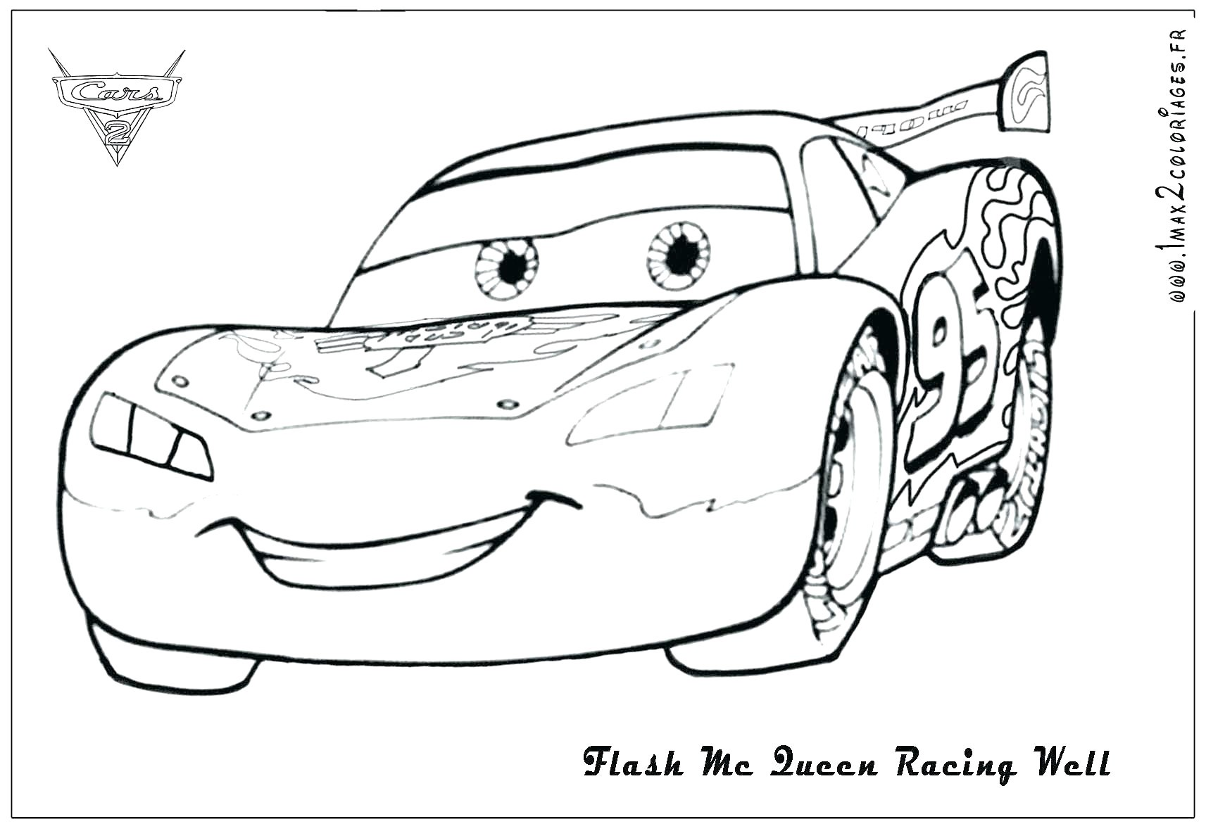 Lightning Mcqueen Christmas Coloring Pages With New Top Free
