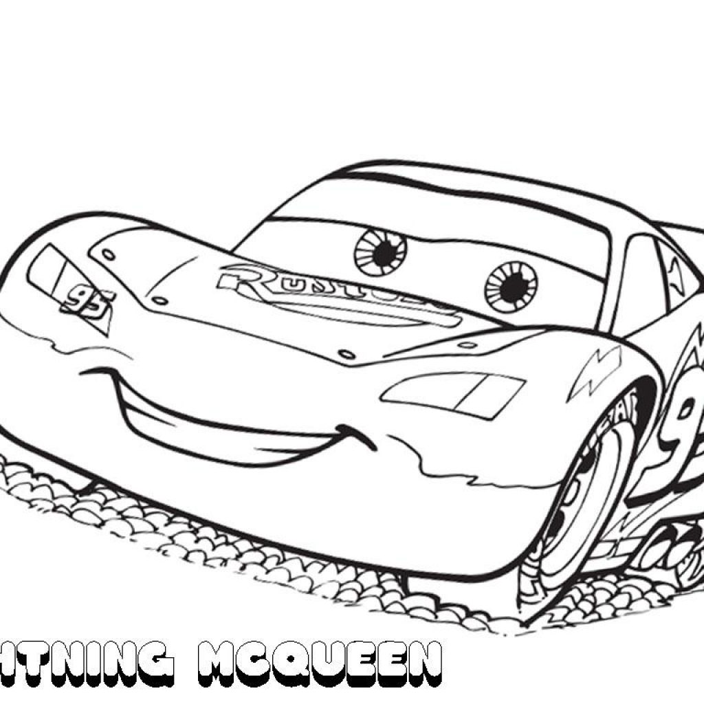 Lightning Mcqueen Christmas Coloring Pages With Printable CLASSIC Style
