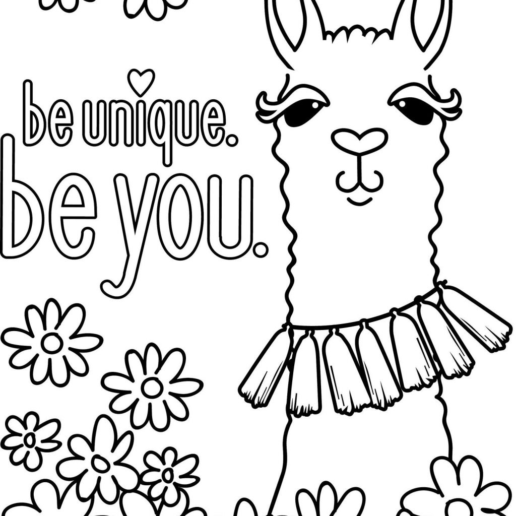 Llama Christmas Coloring Pages With Animal Print 5f Funny Of Free Diaiz