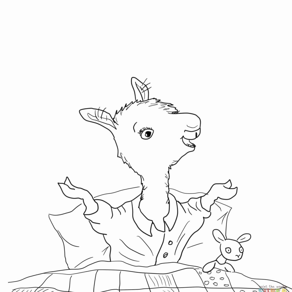 Llama Christmas Coloring Pages With Midna Spiderman