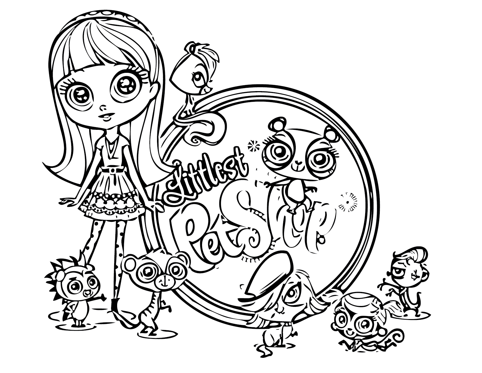 Lps Christmas Coloring Pages With Littlest Pet Shop Best For Kids