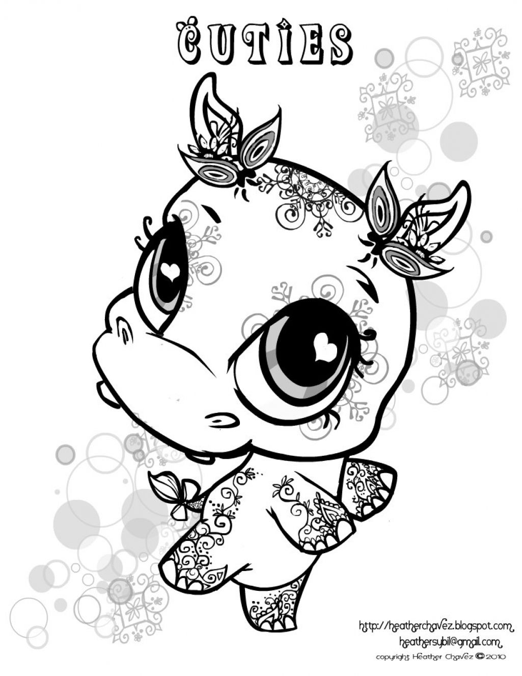 Lps Christmas Coloring Pages With Littlest Pet Shop
