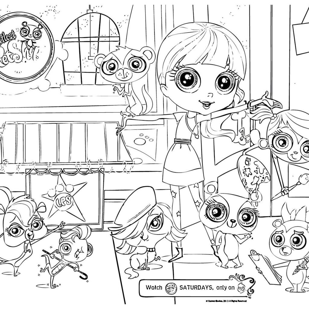 Lps Christmas Coloring Pages With New My Littlest Pet Shop Euro