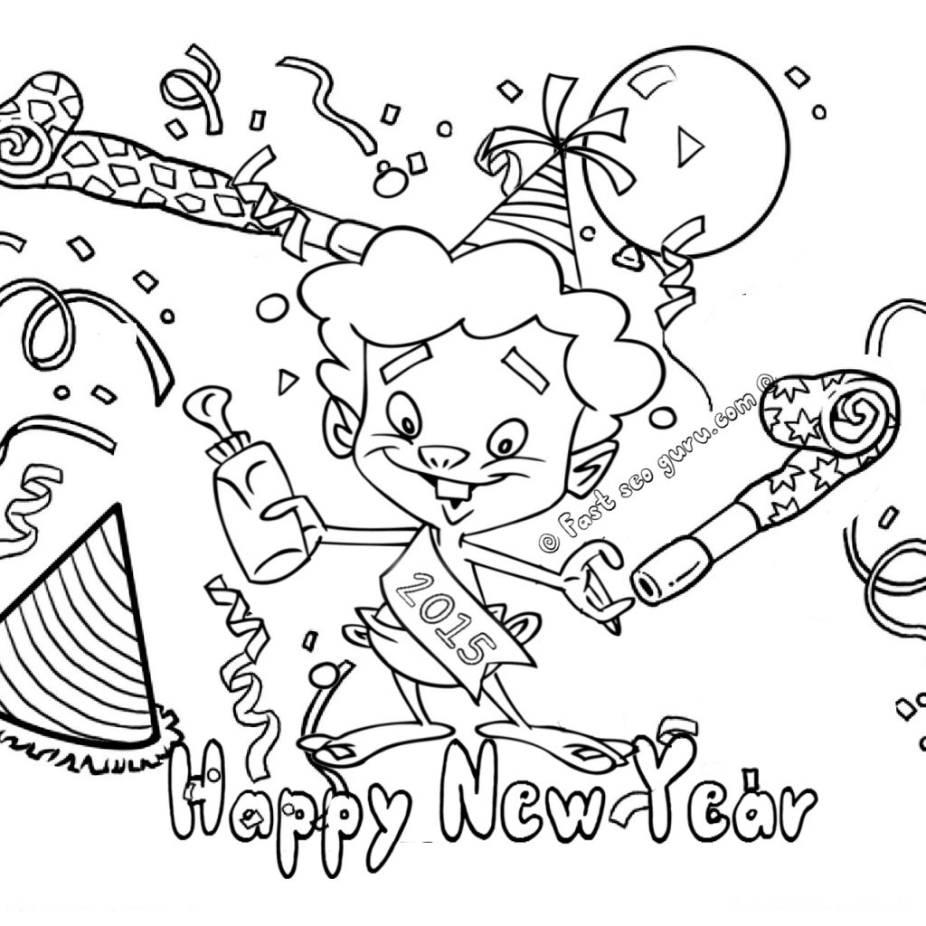 Merry Christmas And Happy New Year Coloring Pages With 2016 Printable