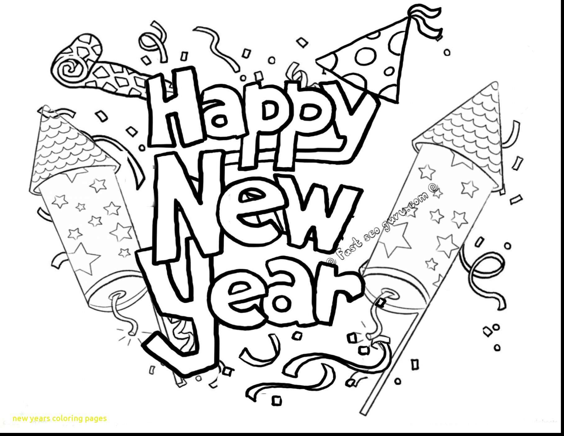 Merry Christmas And Happy New Year Coloring Pages With Free Printable Chinese