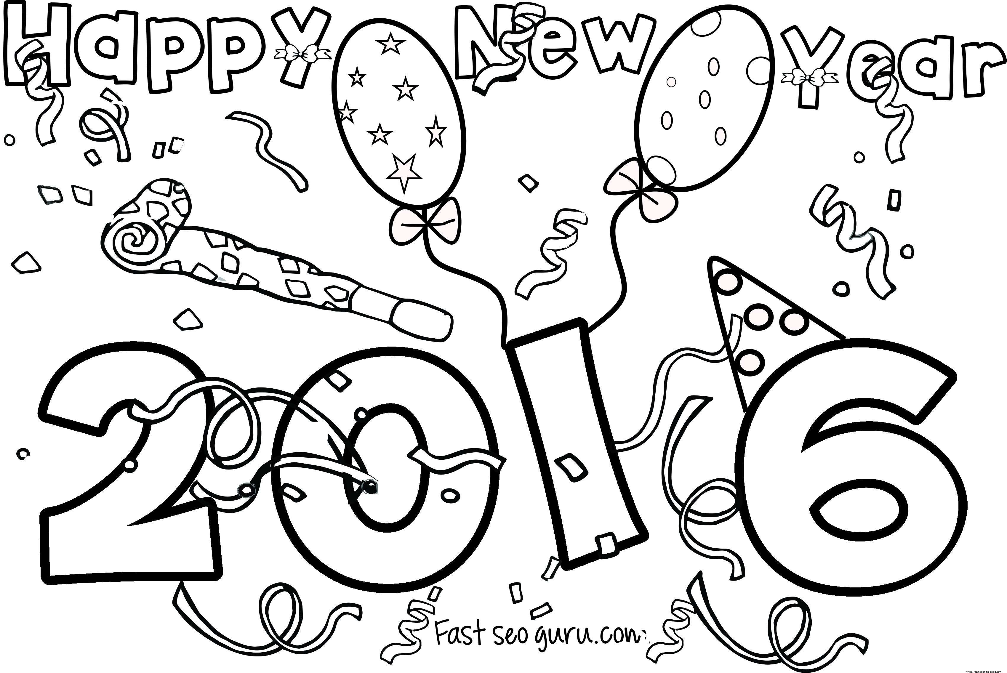 Merry Christmas And Happy New Year Coloring Pages With Little Bo Peep
