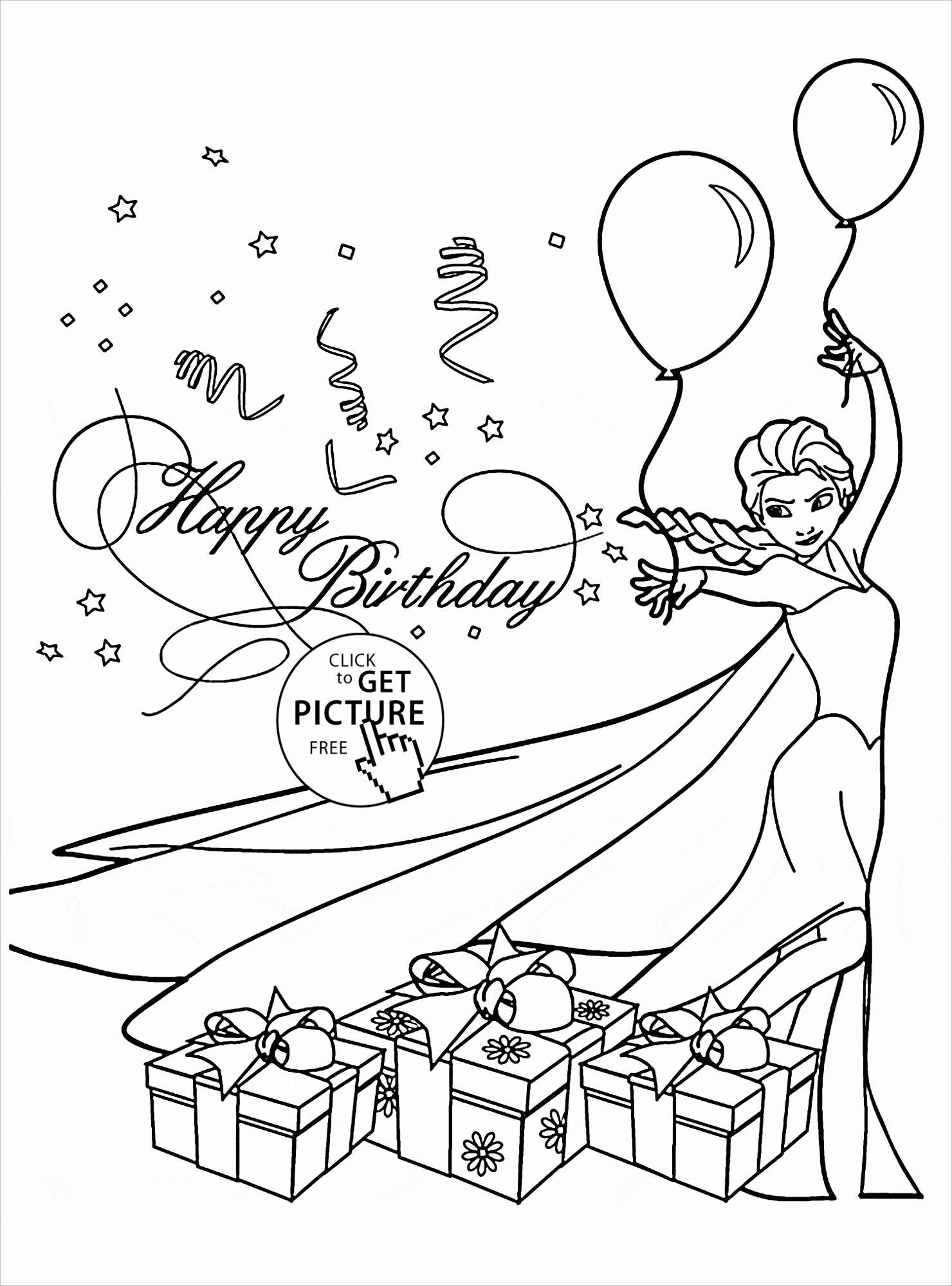 Merry Christmas Card Coloring Pages With Frozen Birthday Cards Then