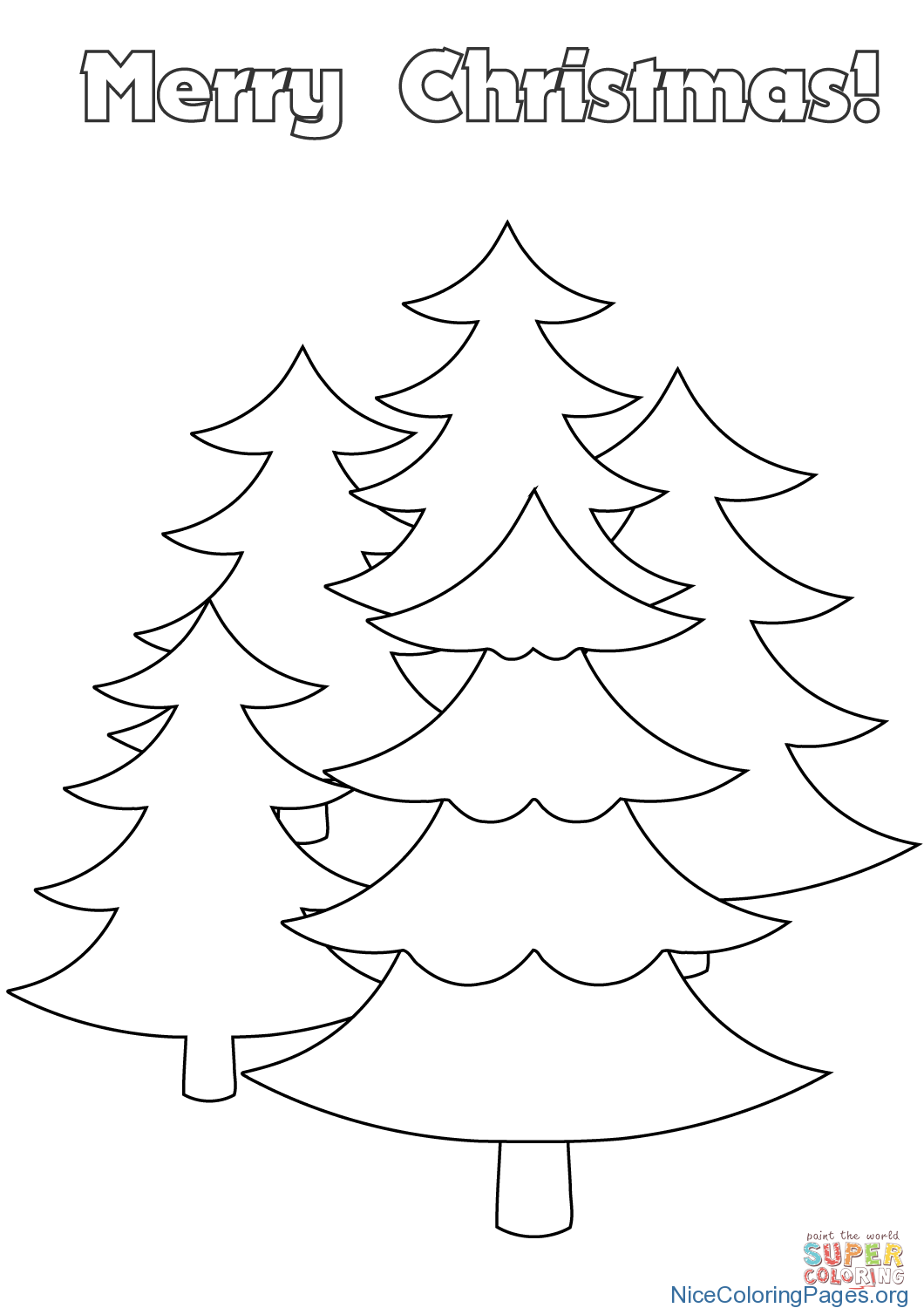 Merry Christmas Cards Coloring Pages With Card 1 Nice For Kids