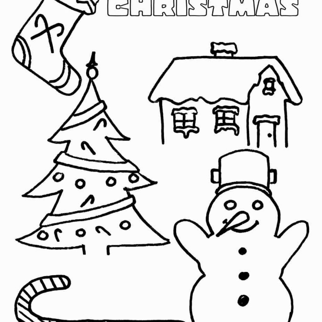 Merry Christmas Cards Coloring Pages With Preschool Fresh Free Printable